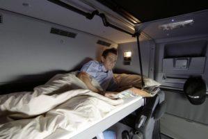 Multa per riposo in cabina solo se l'autista è colto sul fatto