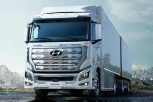 Arrivano in Europa i camion a idrogeno di Hyundai