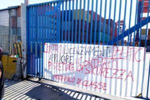 Sciopero del SiCobas al Conateco di Napoli