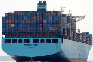 La portacontainer Maersk Essen ha perso 750 container
